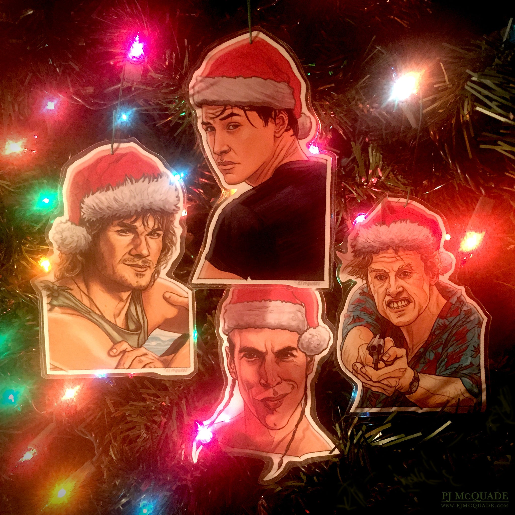 POINT BREAK Christmas Ornament 4 Pack COMBO!