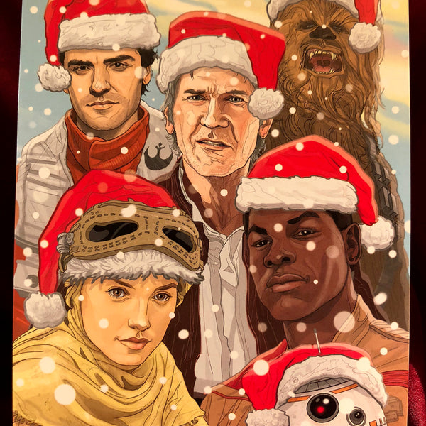 The Force Awakens STAR WARS Christmas CARD!