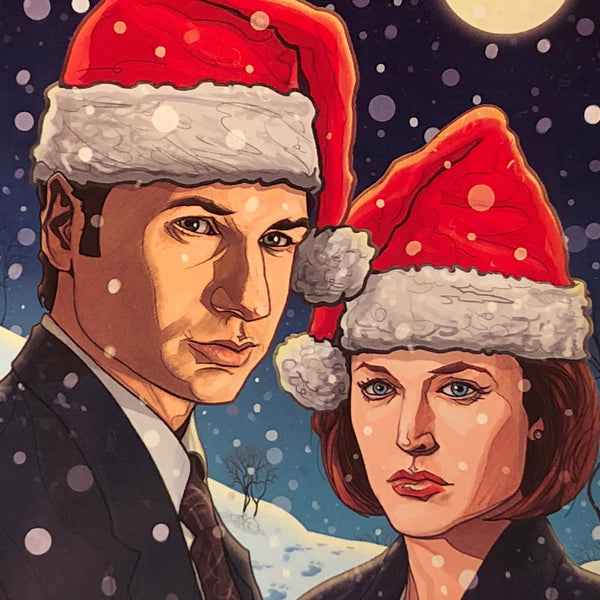 10 PACK X-FILES Christmas CARDS!