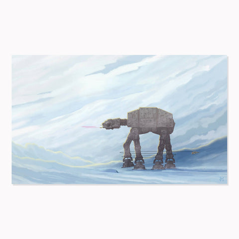 "AT-AT Walker Takedown 11x17"" Star Wars Limited Edition PRINT"