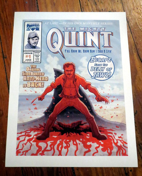 "QUINT JAWS WOLVERINE 8.5x11"" Comic Book Cover Print!"