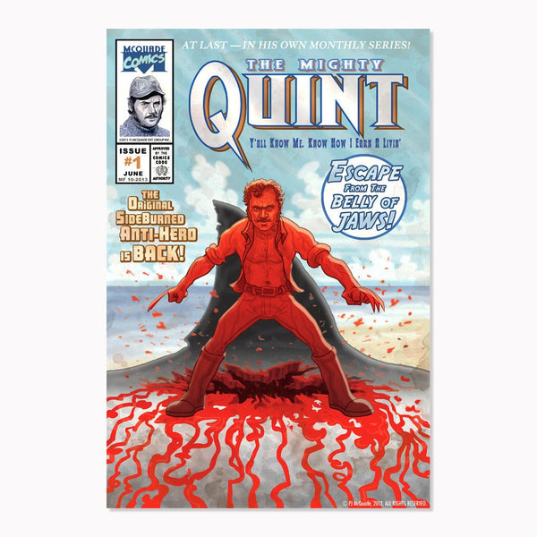 "QUINT JAWS WOLVERINE 13x19"" Comic Book Cover Print!"
