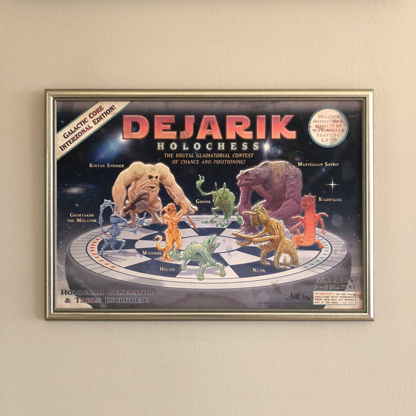 "STAR WARS 13x19"" Dejarik Holochess Limited Edtion PRINT!"
