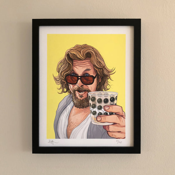 "THE DUDE 11x14"" Limited Edition Big Lebowski PRINT!"