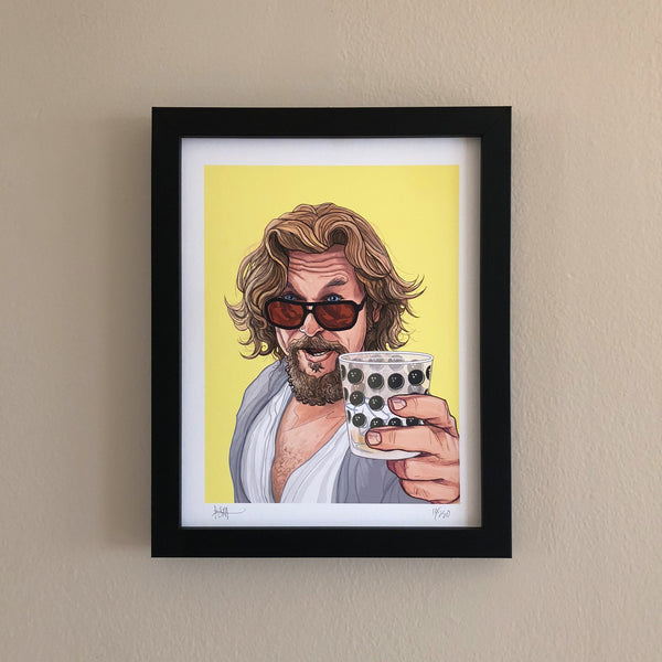 "THE DUDE 8.5x11"" Limited Edition Big Lebowski PRINT!"