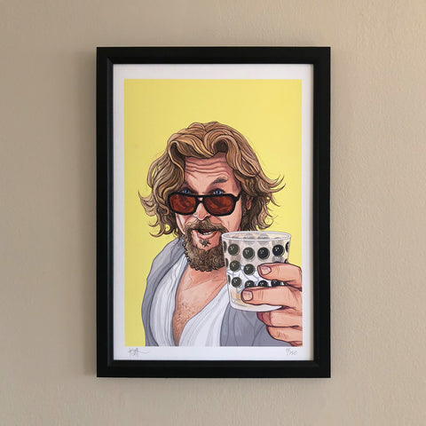 "THE DUDE 13x19"" Limited Edition Big Lebowski PRINT!"