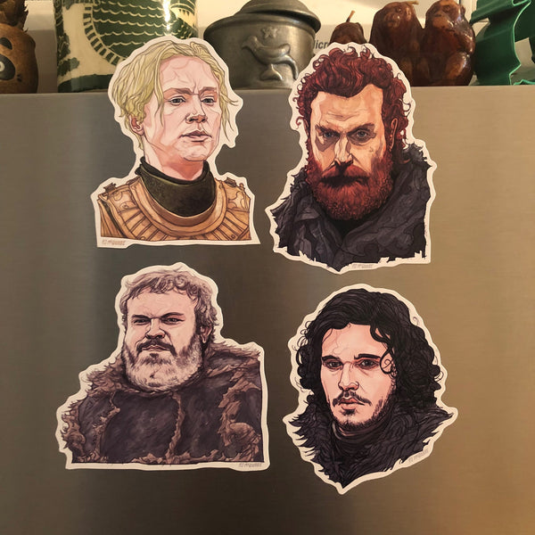 Any 4 GAME of THRONES Fridge Magnets COMBO!