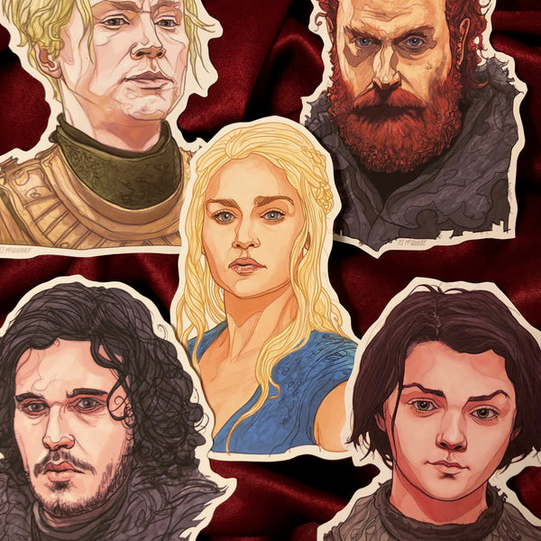 Any 5 GAME of THRONES Stickers COMBO!