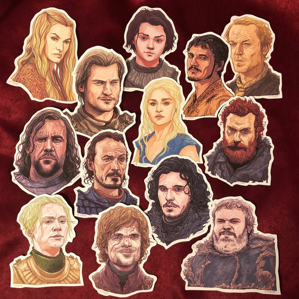 14 GAME of THRONES Lil' STICKERS Combo Pack!
