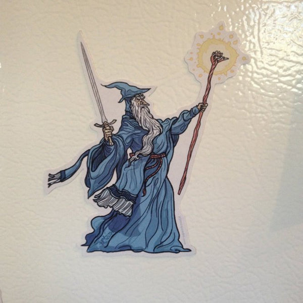 GANDALF Hobbit Cartoon Fridge MAGNET!