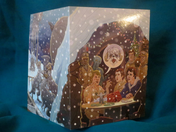 10 PACK Wampa Hoth STAR WARS Christmas Card