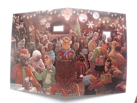 CANTINA SCENE Star Wars Christmas CARD!