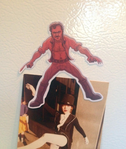 JAWS Quint Wolverine Fridge Magnet