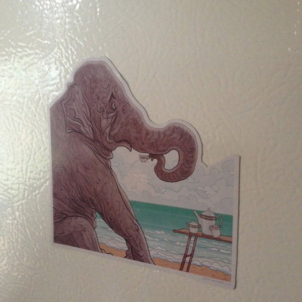 ELEPHANT'S TEACUP Fridge MAGNET!
