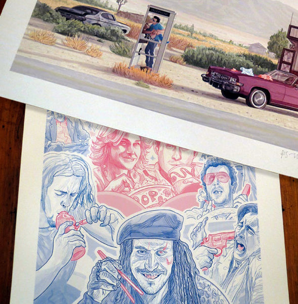 "TRUE ROMANCE 13x19"" Phone Booth/Movie Theater Montage Print COMBO!"