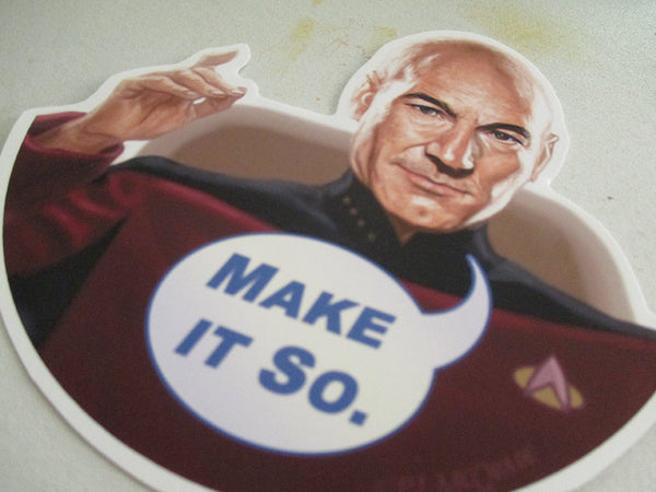 Picard STAR TREK Waterproof STICKER!