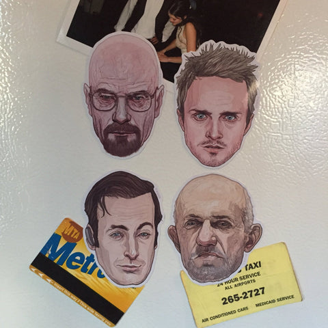 BREAKING BAD Fridge Magnets SET!