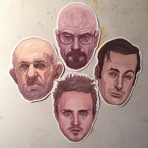 BREAKING BAD Waterproof STICKER Set!