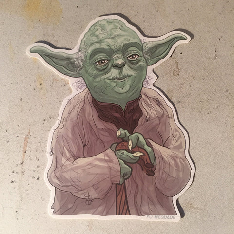 Yoda STAR WARS Waterproof STICKER!