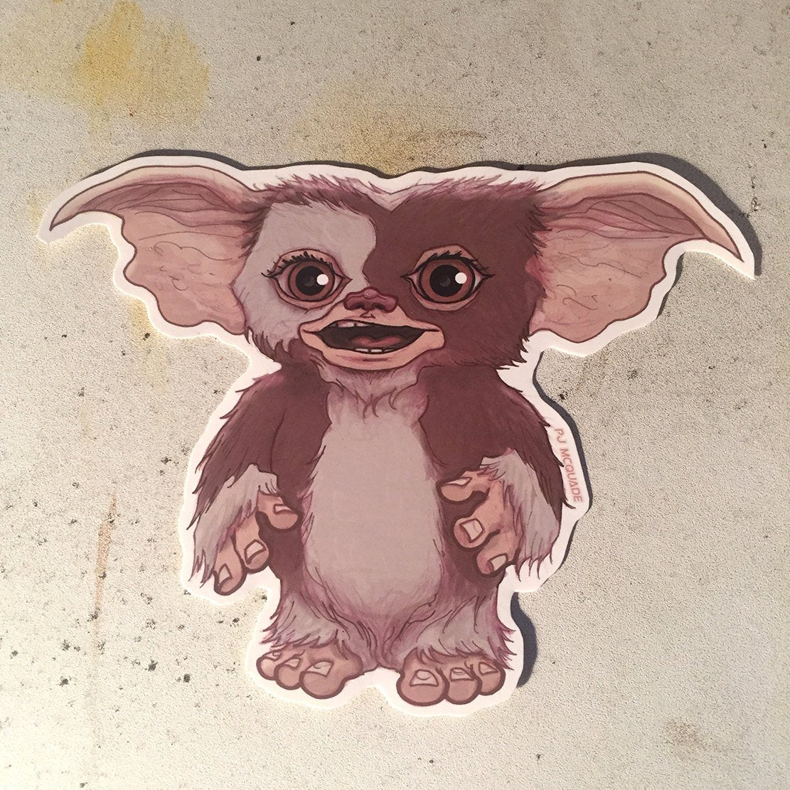 Gizmo GREMLINS Waterproof STICKER!