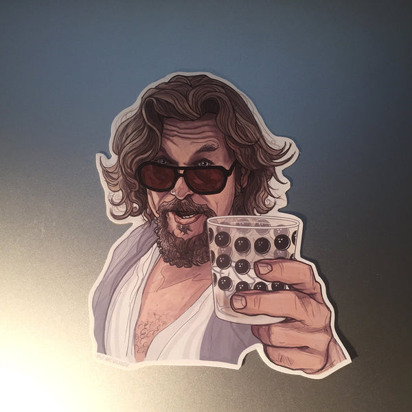 THE DUDE The Big Lebowski Waterproof STICKER!