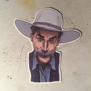 SAM ELLIOT The Big Lebowski STICKER!