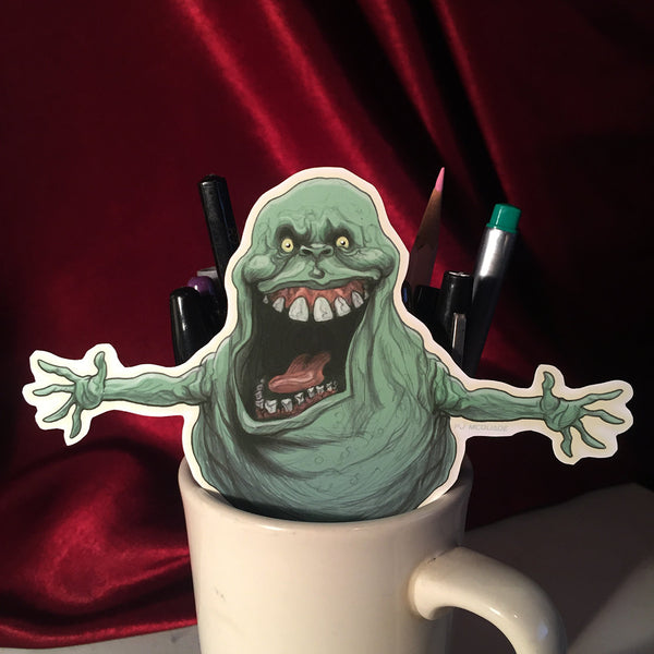 SLIMER Ghostbusters STICKER!