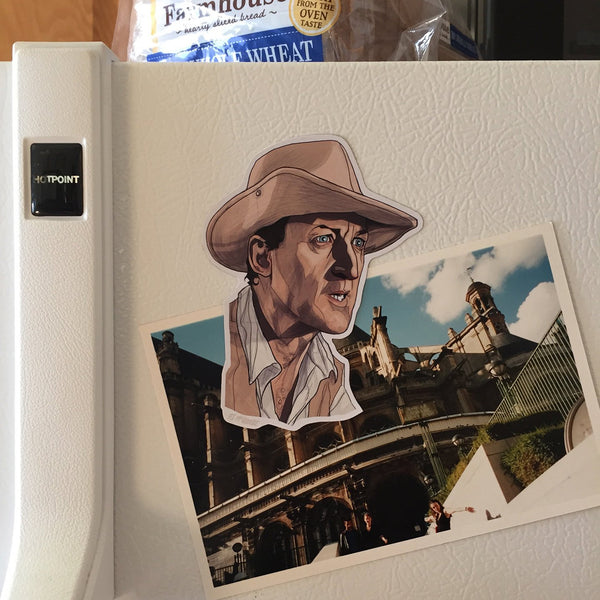 Muldoon JURASSIC PARK FRIDGE MAGNET!