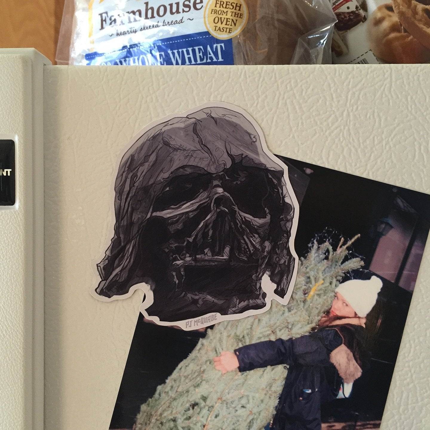 Melted Darth Vader Helmet STAR WARS Fridge Magnet