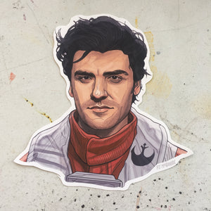 POE DAMERON STAR WARS STICKER!