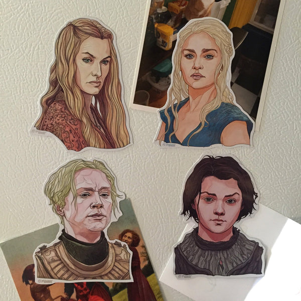 GAME of THRONES Fridge Magnet 4 PACK!