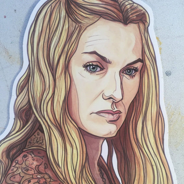 Cersi Lannister GAME of THRONES STICKER!