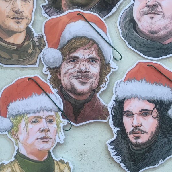 GAME of THRONES 8 Pack Christmas Ornament Combo SPECIAL!