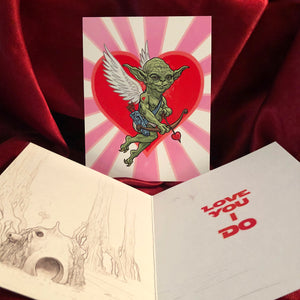 Yoda STAR WAS Valentine's Day Card