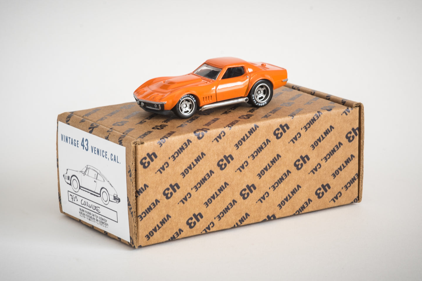 Vintage 43 Custom 1/64 Scale 1970's Orange Corvette
