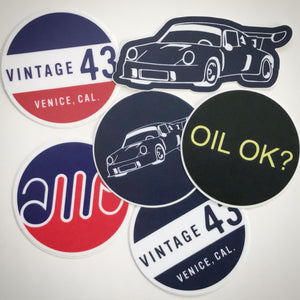 Vintage 43 - Set of 6 Decals