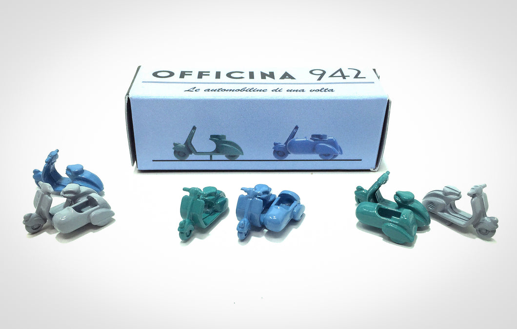 Officina 942 - 1946 Vespa 98 Set of 2 - 1/76 Scale