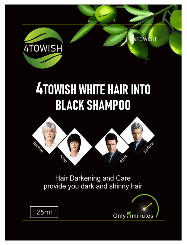 4towish-White Hair into Black(Value pack 20 sachets 500ML)save 40USD