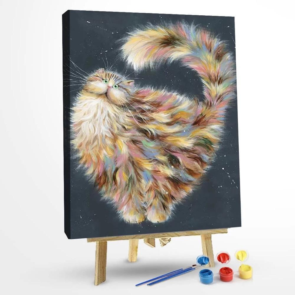 Paint by Numbers Kit-Crunch Abstract Cat