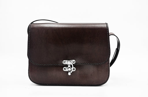 Glenn Dark Brown Crossbody Bag Handmade in France