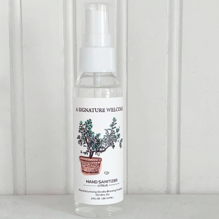 2 oz Spray Liquid Hand Sanitizer (customizable)
