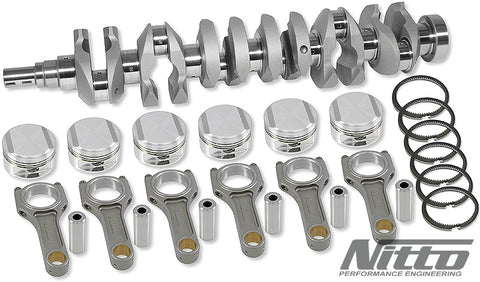 NITTO 2JZ 3.3L STROKER KIT (I-BEAM RODS / 86.5MM BORE)
