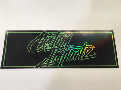 Drift Bunny Custom Importz Holographic Sticker