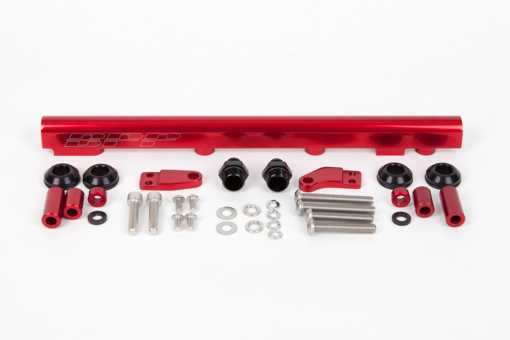 BPP S13 SR20 Fuel Rail Kit - Red