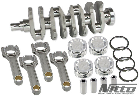 NITTO 4G63 2.2L STROKER KIT (H-BEAM RODS / 85.5MM BORE) ** EN40B CRANK **