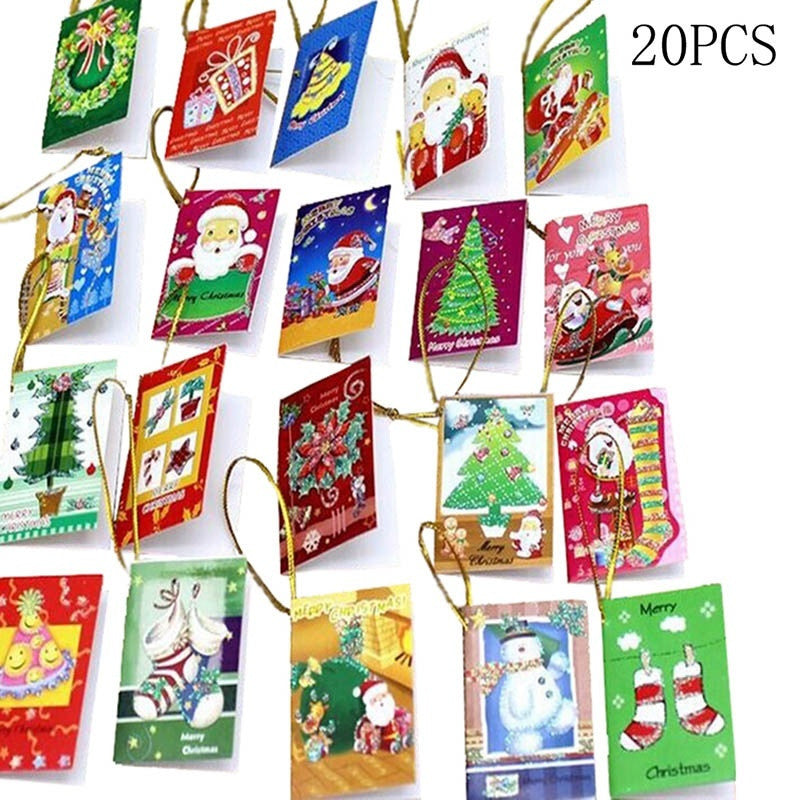 20Pcs Christmas Cards Hanging Decorations for Christmas Trees Hot ...