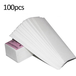 100 PCS Hair Removal Nonwoven Remove Epilator Paper Depilatory Waxing Cosmetology Smooth Legs Body Hair-strips Wax Salon for Depilation