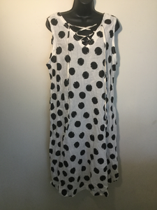 100 % Cotton Polka Dot Dress Style # D007