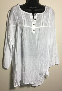 100% Cotton Lacey Shirt Style # T008
