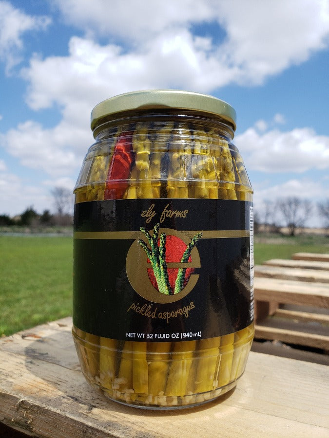 Ely Farms Pickled Asparagus 32 Ounce Jar